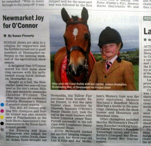 Carol & Sunny make the Irish Field