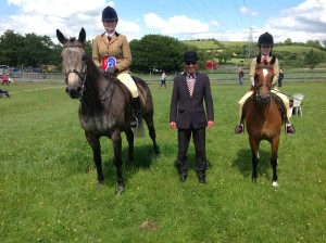 4th July 2015 - Show Hunter Champion  Ellie McDonnel on Golden Grove Sunrise and Reserve Show Hunter Champion, Christina Devine on Ardfry Aragon,
