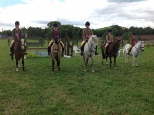 4th July 2015 - Jodie Creighton, Hawk Eye, Charlotte Smiley and Teach Mor Knight Alexandra Ryan and Tuckmill Starr, Ellie McDonnel and Belle Vue Royal Jester and Ellie Johnston and Dapple